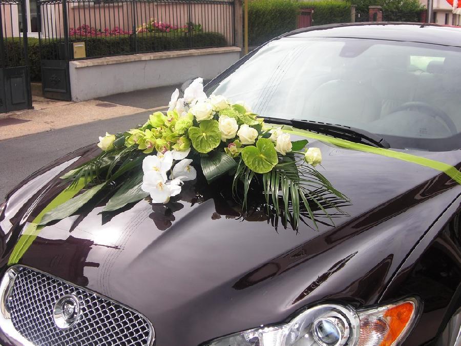 fleur decoration voiture mariage u car 33