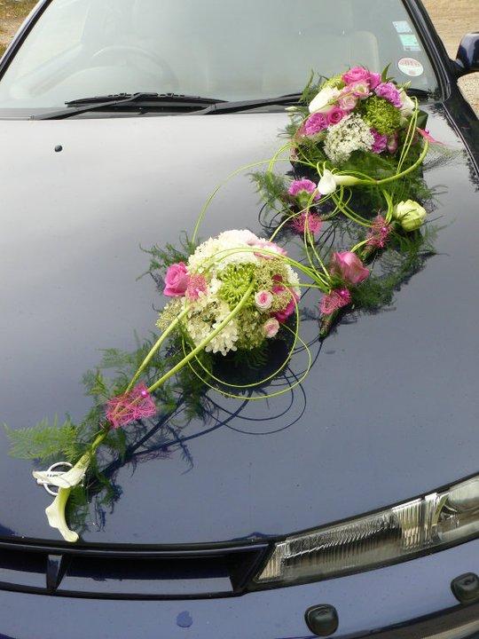 d coration florale mariage voiture u car 33. Black Bedroom Furniture Sets. Home Design Ideas