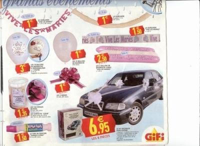 decoration voiture mariage gifi u car 33. Black Bedroom Furniture Sets. Home Design Ideas