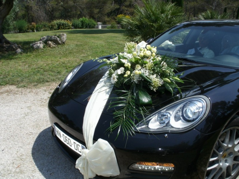 decoration voiture mariage cortege u car 33. Black Bedroom Furniture Sets. Home Design Ideas
