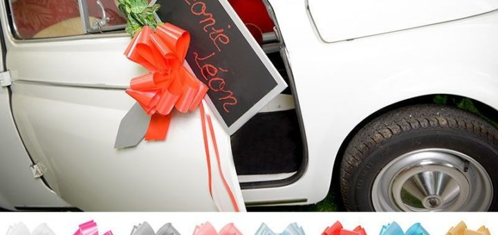 gros noeud rouge pour offrir voiture u car 33. Black Bedroom Furniture Sets. Home Design Ideas