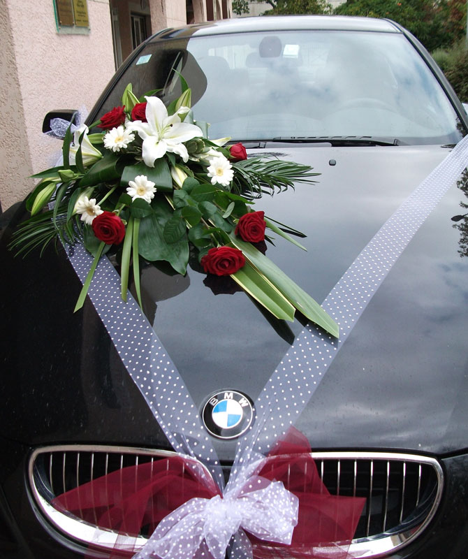 bouquet de fleurs mariage voiture u car 33. Black Bedroom Furniture Sets. Home Design Ideas