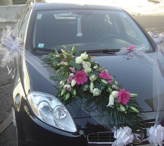 decoration capot voiture mariage u car 33