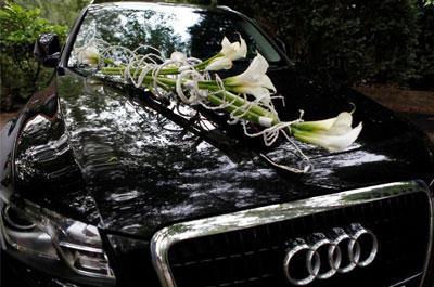 fleur mariage voiture u car 33. Black Bedroom Furniture Sets. Home Design Ideas